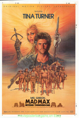MAD MAX BEYOND THUNDERDOME MOVIE POSTER Original 27x41 Soundtrack Richard Amsel