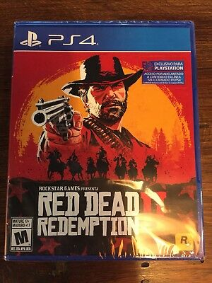 Brand New Sealed Red Dead Redemption 2 PS4 PlayStation 4 2018 Latam Edt