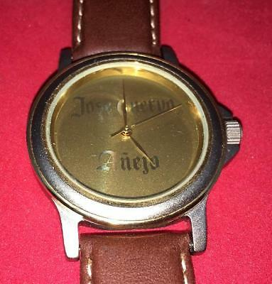 Jose Cuervo Wristwatch Men's Leather Band Working Adversiting Tequila Anejo