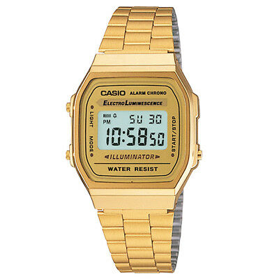 Casio A168WG-9VT Vintage Collection (Gold) Unisex Stainless Steel Digital Watch