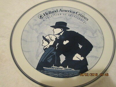 """Delft 10"""" Plate Royal Goedewaagen Holland America Cruise Line TRADITION EXCELLEN"""