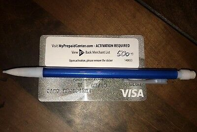 $500 VISA Card FREE SHIPPING Activated and ready to use NO FEES