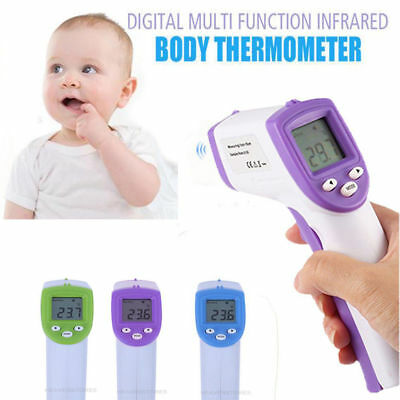 LCD Digital Body Non-contact IR Infrared Thermometer Forehead Temperature Tester