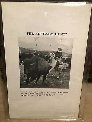 Vintage Riverview Park Chicago - Board Poster - The Buffalo Hunt Buffalo Bill