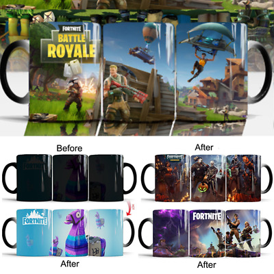 Fortnite Color Changing Ceramic Mug Original 3D Heat Sensitive Magic Coffee Cup