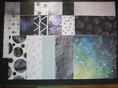 """SCRAPBOOKING PAPERS -15 x15cm -17 sheets - Crafterschoice - """"GALAXY"""""""