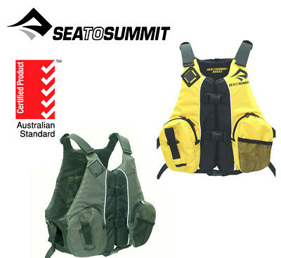 Sea to Summit Kayak Fishing Life Jacket, PFD for Canoe Angler Vest Sit on Top