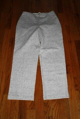 """Nwt Lysse Women's Heathered Gray """"ponte Crop Trouser"""" Pants Size S $89"""
