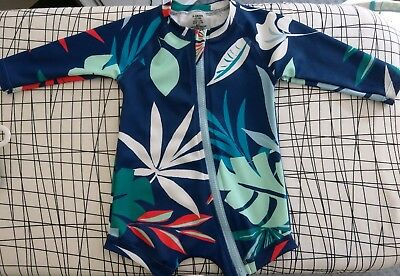 Bonds Baby Swim Long Sleeve Zip Suit 000 0-3 months excellent condition, boys