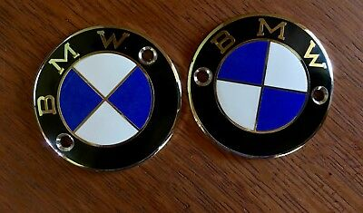 Vintage BMW Motorcycle, Tank Emblem Roundel /2 Pre 70's 60mm hole to hole