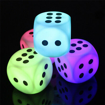 LED Night Light Funny Battery Dice Home Bedroom Lamp Party Decoration Kid Gifts