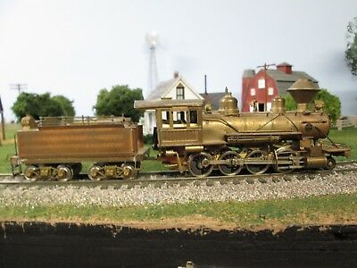 Vintage HO Brass Consolidation 2-8-0 by United OLD TIME WITH DIAMOND STACK