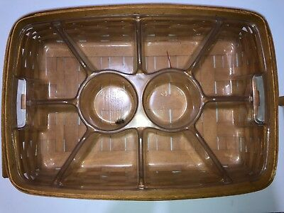 Longeberger- Serving Tray Basket- 1995 - Protector Included