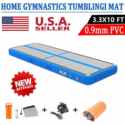 Airtrack Air Track Floor Inflatable Gymnastics Tumbling Mat GYM with Pump Blue E