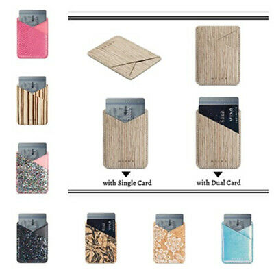 For Cell Phone Slim Bling Wallet Card Bag Adhesive Holder Case Pouch Sticker