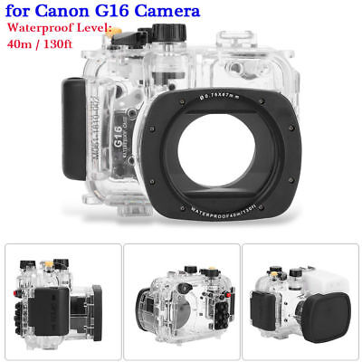 40M 130ft Underwater Waterproof Diving Housing Case for Canon G16 Camera RH