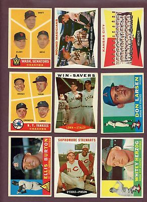 LOT OF (451) ASSORTED 1960 TOPPS BASEBALL CARDS (PR to VG)