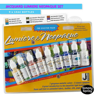 NEW Jacquard Lumiere Neopaque Glass,Clay,Tiles,Wood &Leather 9 colours FREE POST