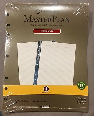"""NEW! Franklin Covey Cornerstone Daily Notes Monarch 50 Sheet  8.5"""" X 11""""  Size 5"""