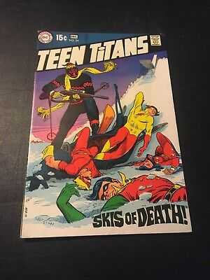 Teen Titans #24 (Dec 1969 Dc) Letter From Klaus Janson Nick Cardy Art Vg/fn!
