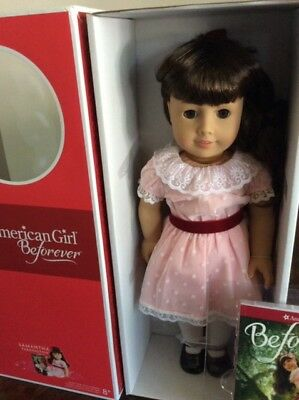 American Girl BeForever Samantha Doll and Book 18' Doll New in box NR