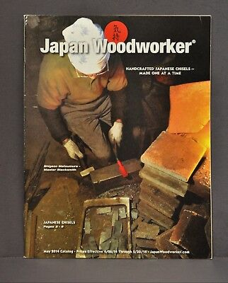 May 2014 Japan Woodworker Catalog Magazine Blacksmith Chisels Tools Hammers