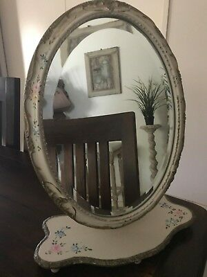 Rare Antique Ornate French Inspired Adjustable Tilting Mirror