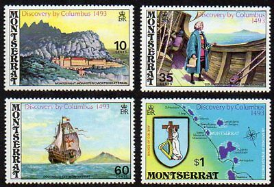 Montserrat Sc. #292-295 SG #313-316 Discovery by Columbus MNH