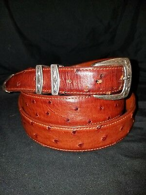Clint Orms Greg Jensen Buckle Set On House Of Fleming Ostrich Belt Hand Crafted