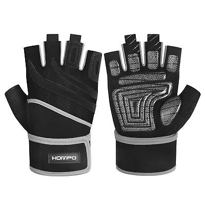HOMPO Gym Gloves Weight Lifting Body Building Gloves Fitness Training Workout AU