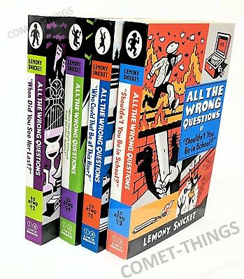 All The Wrong Questions Lemony Snicket 4 Softcover Books Set VGood to Like New