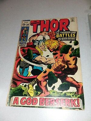 The Mighty Thor #166 marvel comics 1969 2nd appearance warlock silver age movie