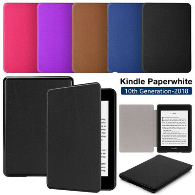 For New Amazon Kindle Paperwhite 2018 Smart Leather Magnet Flip Slim Case Cover