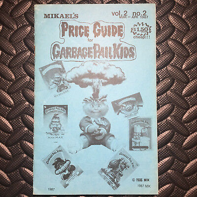 Garbage Pail Kids Rare Price Guide Vol 2 No 2 Mikael's Rare Mar-Apr 1987