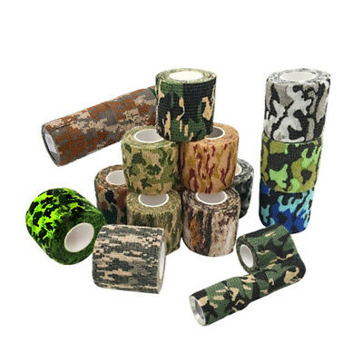 Hot Waterproof Camouflage Bandage Wraps Elastic Adhesive First Aid Tape Stretch
