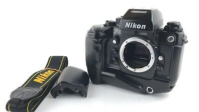 """Excellent+"" Nikon F4S 35mm SLR Film Camera Body w/ MB-21 & MB-20 Grip Japan"