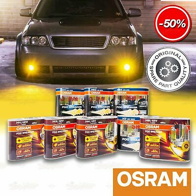 2x ALL OSRAM FOG BREAKER FBR-HCB Headlight Bulbs DuoBox 2600K YELLOW Spot Light