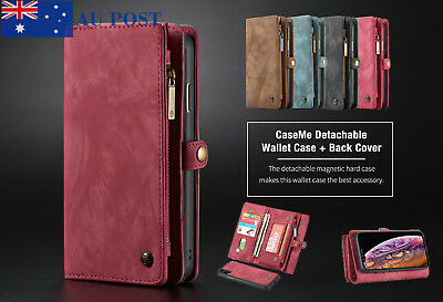 For iPhone XS Max XR Luxury Magnetic Case Leather Removable Wallet Cover Caseme