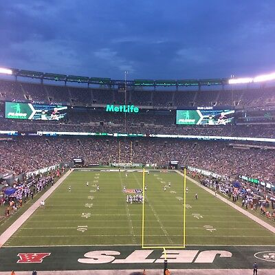 New York Jets Vs Houston Texans Tickets And Parking Pass