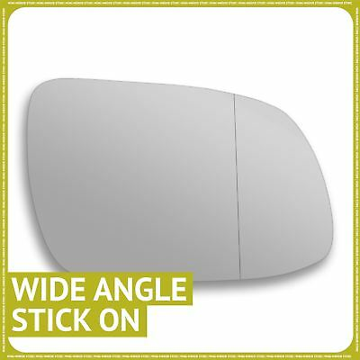 Left Passenger side Wide Angle Wing door mirror glass for Cadillac BLS 2005-2009