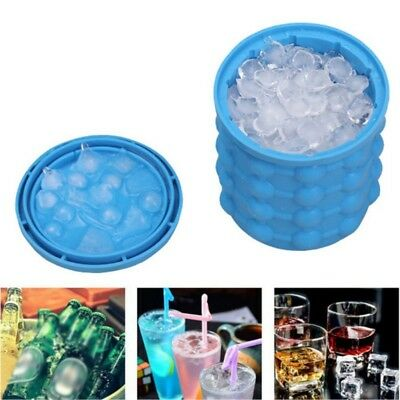 Ice Cube Maker Silicone Ice Bucket The Space Saving Ice Cube Maker Refillable