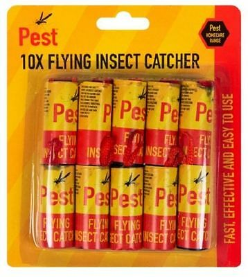 10/20 Pack Fly Insect Insects Bugs Wasp Poison Free Sticky Papers Traps Catchers