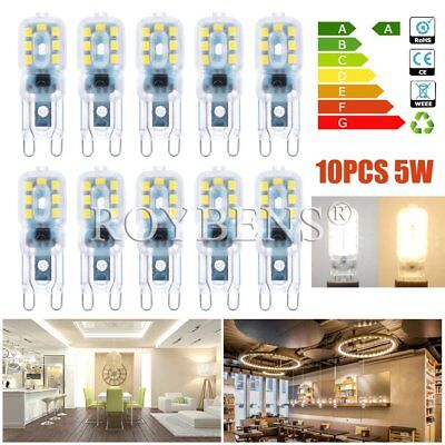 5 /10 X G9 5W 8W LED Dimmable Capsule Bulb Replace Light Lamps AC220-240V