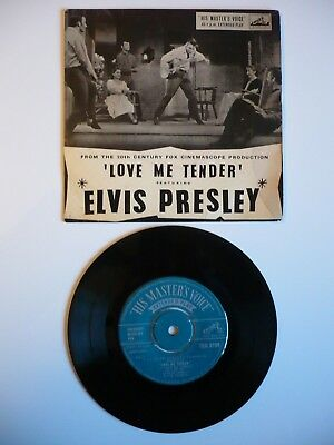 Elvis Presley Love Me Tender EP Vinyl UK 1956 1st Press 1N1N HMV 4 Track Single