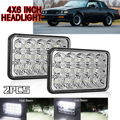 DOT 4x6 LED Headlights Lamps High-Low Replacement H4656/4651 Sealed Beam 45W 2x