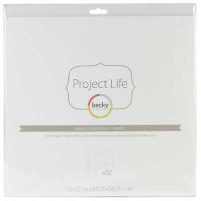 Project Life Photo Pocket Pages 12/pkg-design L