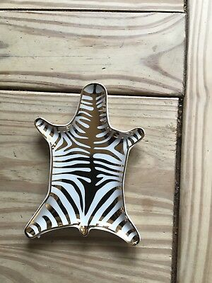 Jonathan Adler Gold Colour Zebra Stacking Dish