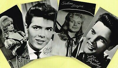 TAKKEN - 1960s Film/Music Star Postcards issued in Holland #AX4706 to #AX4820