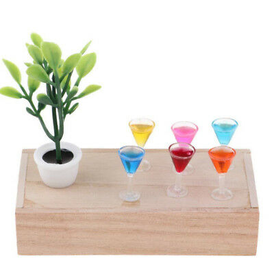 Dollhouse Miniature Wine Cocktail Glass For 1 :12 Goblet Drinking Bar Accessory