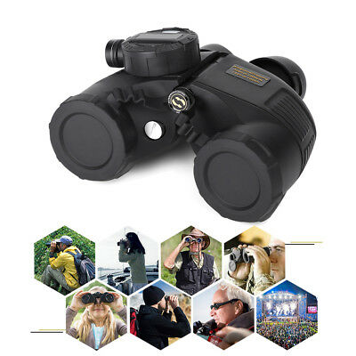 7x50 Military Waterproof Night Vision Binoculars Compass Range Finder Outdoor